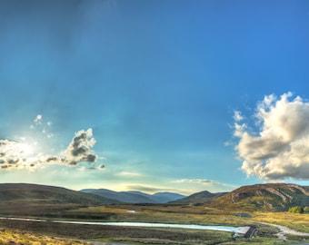 Garve - Scotland landscape panorama HDR photo
