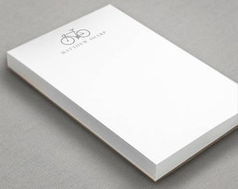Bicycle Note Pad | 1st Anniversary Gift | Custom Bike Notepad | Personalized Gift For Him | To Do List Memo Pad | Paper Scratch Pad |BICYCLE
