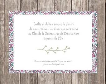 Invitation card party wedding Liberty
