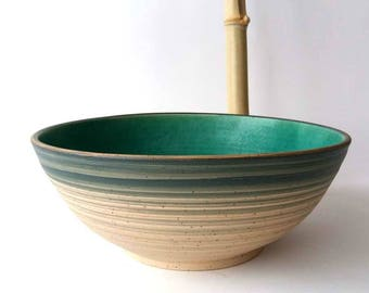 Salad Bowl Turquoise Ø 26 cm height 10.5 cm