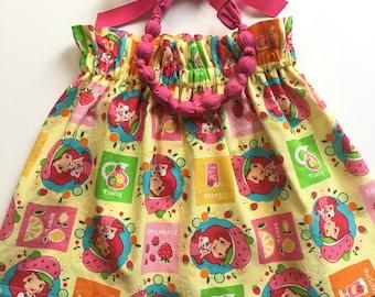 Strawberry Shortcake Skirt, Birthday Skirt, Strawberry Shortcake Theme, Party, Summer, Toddler