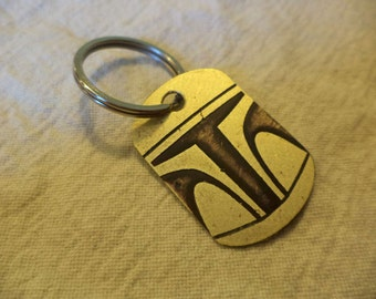 Star Wars inspired Brass Keychain