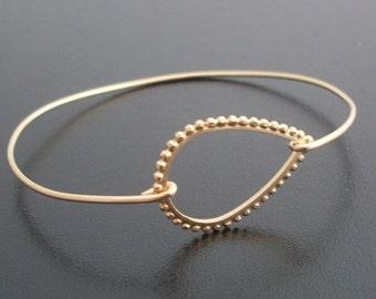Tear Drop Bracelet, Adelia - Gold Tear Drop Bangle Bracelet, Tear Drop Jewelry, Gold Bracelet, Gold Bangle Bracelet, Teardrop Bracelet