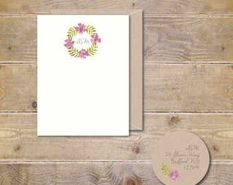 Gift for Her, Gift for Friend, Christmas Gift, Personalized Note Cards, Stationary Set, Stationery Set, Office Gift