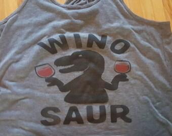 Wino Saur Racerback Tank Top