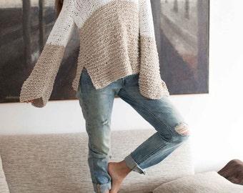 Women sweater Knit sweater Loose knit sweater Slouchy sweater Oversized sweater Alpaca sweater Pullover sweater V neck sweater Wool sweater
