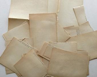 1875 Antique Paper Scraps