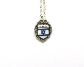 Star of David Israel necklace, State of Israel necklace, Israel necklace