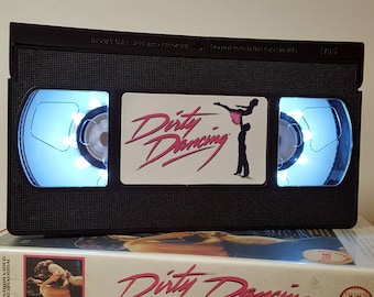 Retro VHS Lamp Dirty Dancing Night Light Table Lamp. Order any film, movie, series, or actor! Great Personal Gift! Mothers Day Mothers Day