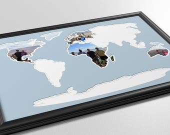 Seven Continents Photo Map
