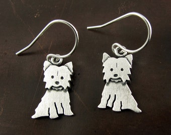 Tiny Yorkshire Terrier earrings