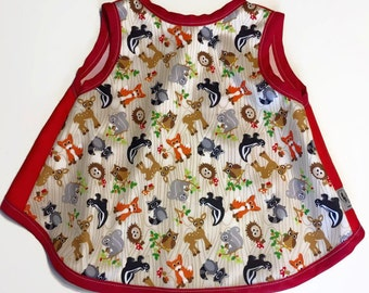 bib waterproof apron baby child cayalou coat covers all animals forest Fox pul