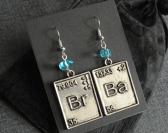 Breaking Bad earrings – Br Ba symbols –Walter White – Jesse Pinkman – Let's Cook – cosplay prop accessory