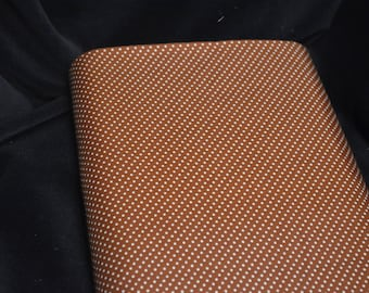 Vintage Rust Polka Dot Fabric