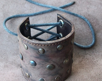postapocalyptic real leather bracelet