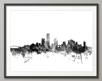 Milwaukee Skyline, Milwaukee Wisconsin Cityscape Art Print (1494)
