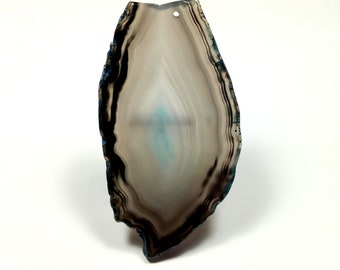 Slice of agate gray/blue 84 mm