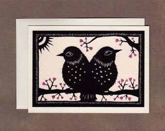 Two Birds One Tale - Notecard