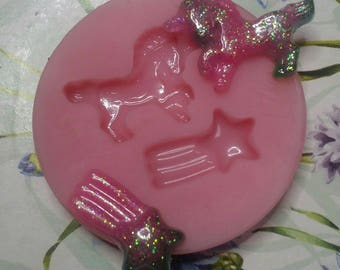 Soft silicone mould Unicorn and COMET