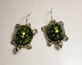 Turtle Loggerhead Earrings