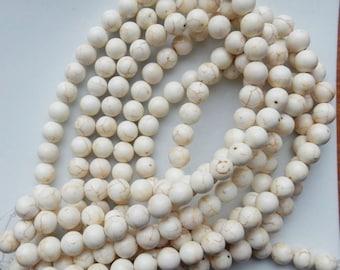 10mm  White Turquoise round beads , FULL STRAND