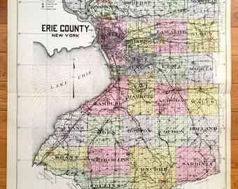 Seneca county map Etsy