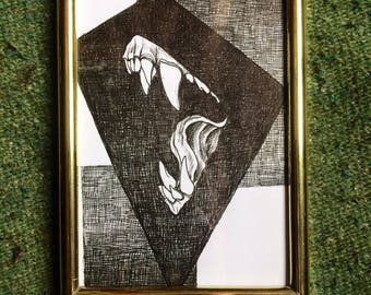 Bite - Original Drawing (5x7)