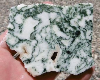 Green Tree Moss Agate Slab  (80X60X8)