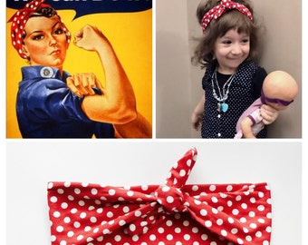 Rosie The Riveter Baby-Child Headband