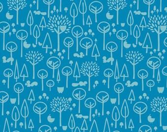 Scenic Route Trees in Blue, Deena Rutter, Riley Blake Designs, 100% Cotton Fabric, C3663-BLUE