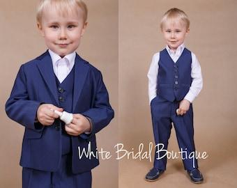 Wedding boy suit Ring bearer outfit Boys formal wear Wedding boy outfit Wedding suit Ring bearer suit Communion suit Boys vest Boys suit