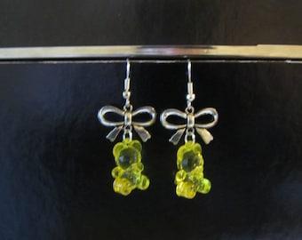 Earrings - sweet yellow gummibears