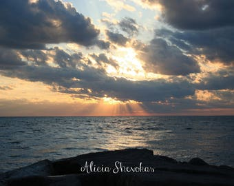 Sunset on Lake Michigan - photography