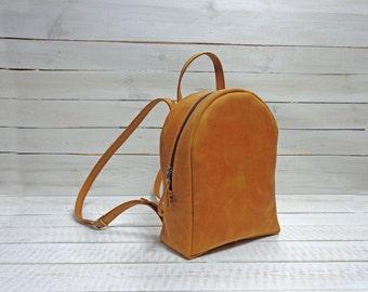 Vintage  Leather backpack, Leather Rucksack. leather backpack women, hipster backpack, mens leather backpack,  school backpack