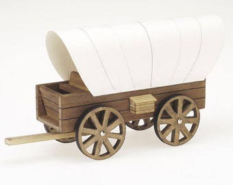 Covered wagon wood model kit