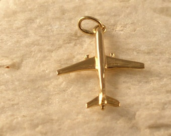 14kt or Silver Boeing 757 Jet Airplane Pendant
