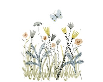 Botanical illustration - Meadow - archival art print