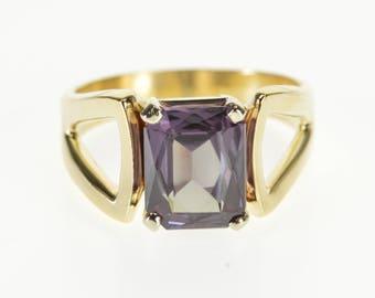 14k Brilliant Cut Alexandrite* Solitaire Ring Gold