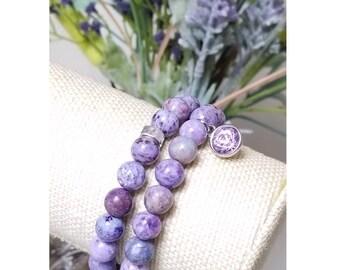 Lavender Marble Bead Bracelet