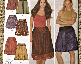 Simplicity 3924 Skirts and Belt Adult Size D5 4-12