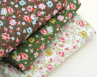"""Cotton Fabric Charming Flower by the yards 44"""" Cozy Charming Flower"""