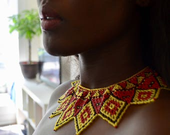 Bead tribal necklace