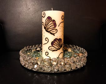Butterfly Henna Candle