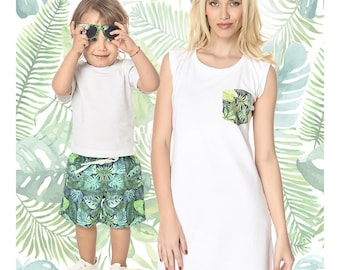 Mother Son Matching, Mom And Son Matching Outfit, Mothers Day Gift, Mommy and Me Outfits, Mommy And Me Set, Matching Kid, White Summer Dress