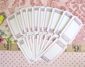 Blank Raffle Tickets - Blank  Tickets - set of 30 (white)