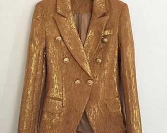 BALMAIN Inspired gold blazer