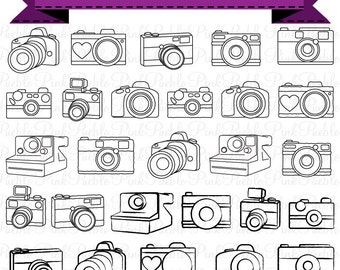 Camera Clipart Clip Art Photography Logo Elements Layered Editable PSDs And Vectors