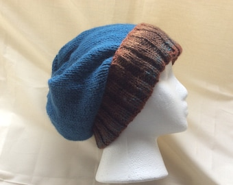 Slouchy Hat — Hipster Hat — Skully Hat — Knit Slouchy Hat — Knit Hipster Hat —Knit Slouchy Beanie — Knit Grunge Beanie Hat
