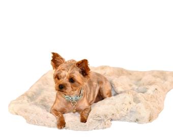 SNOW LEOPARD PLUSH:  Ultra Plush Luxury Soft Cuddle Pet Blanket, Dog Blanket, Cat Blanket, Small and Medium Dog Blanket