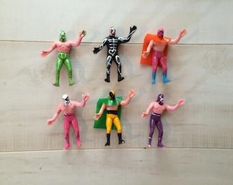 Set Luchador Wrestler Toy Plastic Figures